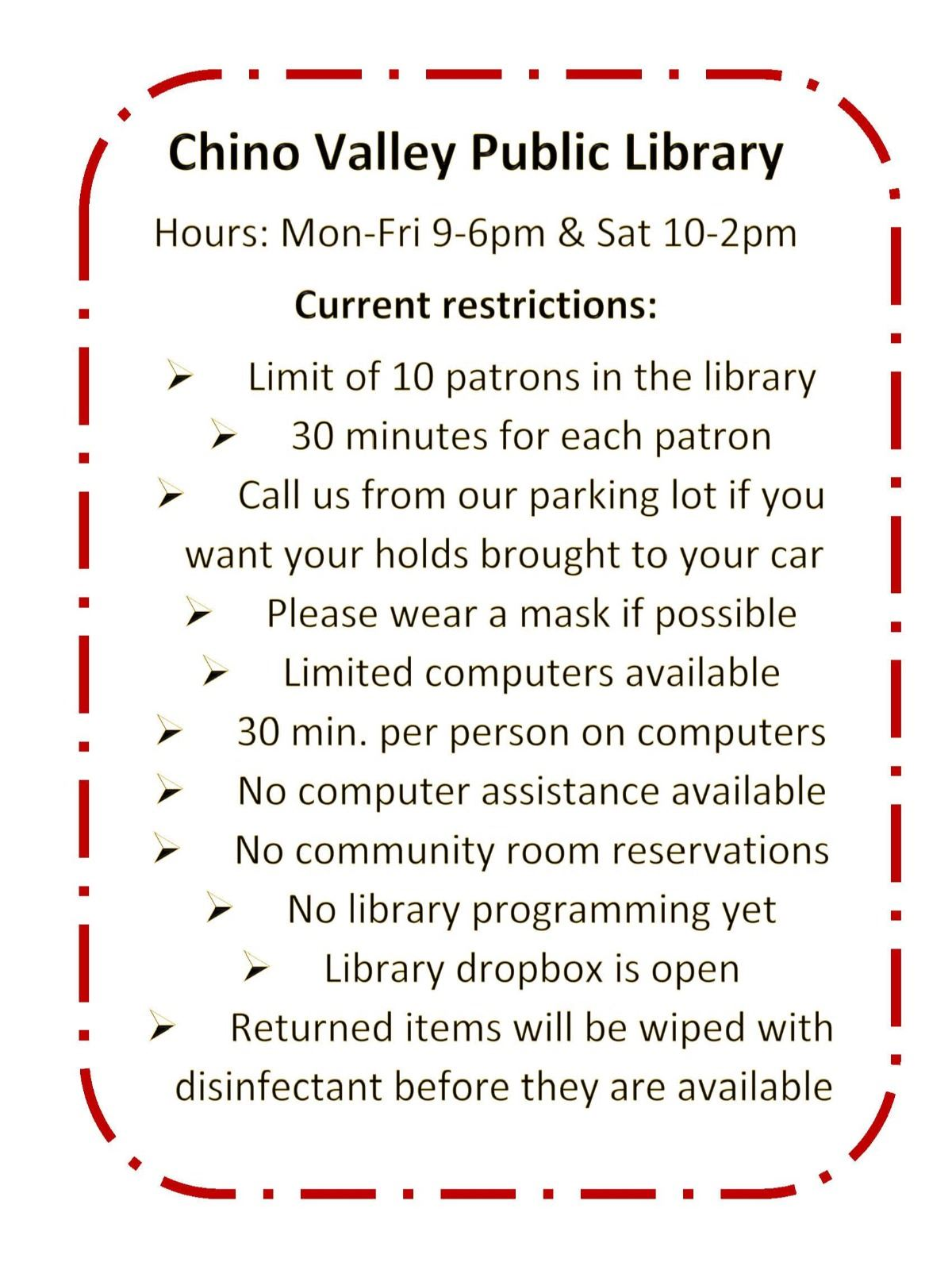 Library restrictions-Sat