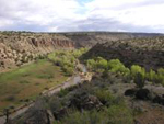 The Verde River cuts through to Arizona country side