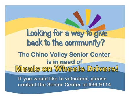 Senior Center - Meals on Wheels Drivers